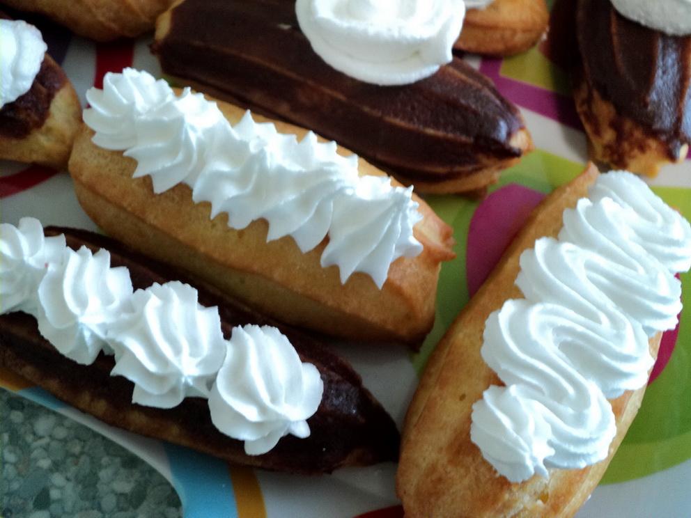 Белковый крем на пару и заварные пирожные