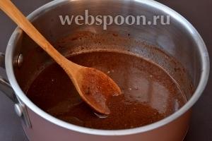 Растопить сливочное масло и какао. Охладить.