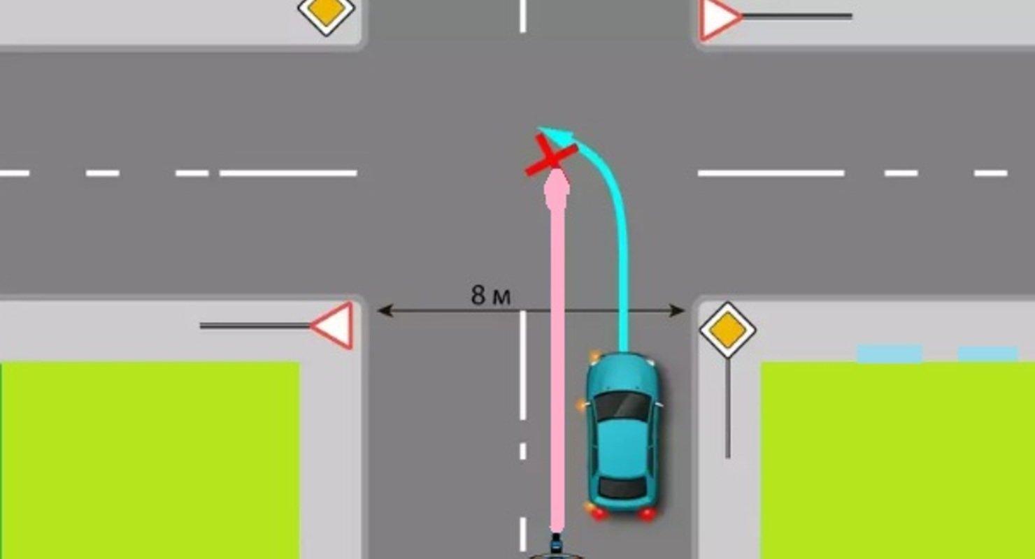 Изучаем ПДД. Кто виновен в аварии на перекрестке? Автограмота