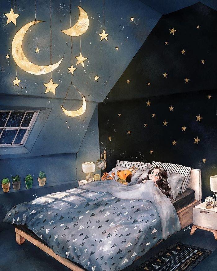 Сон ночь картинки