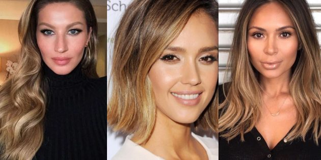 Модные цвета волос 2019года: контрастный золотой бронд
