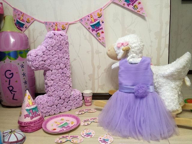Цифры на день рождения своими руками из гофрированной бумаги, салфеток, картона, фетра, шаров, фотографий. Как сделать цифру 1, 2, 3, 4, 5 на день рождения?