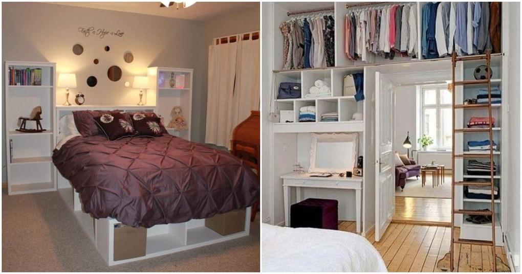 25 умных идей, как рационально хранить вещи в спальне
