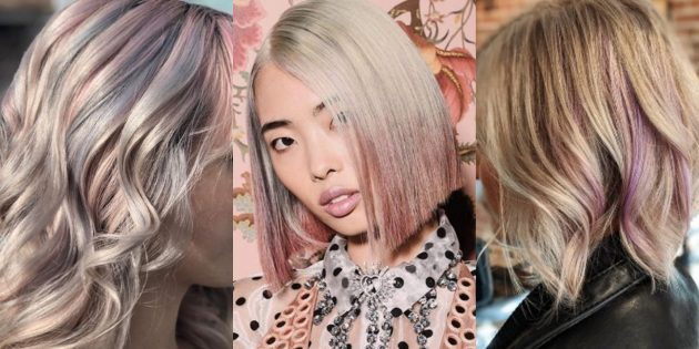 Модные цвета волос 2019года: мишура