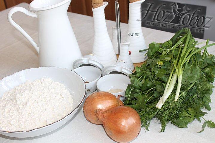 Подготовим необходимые для лепешки продукты