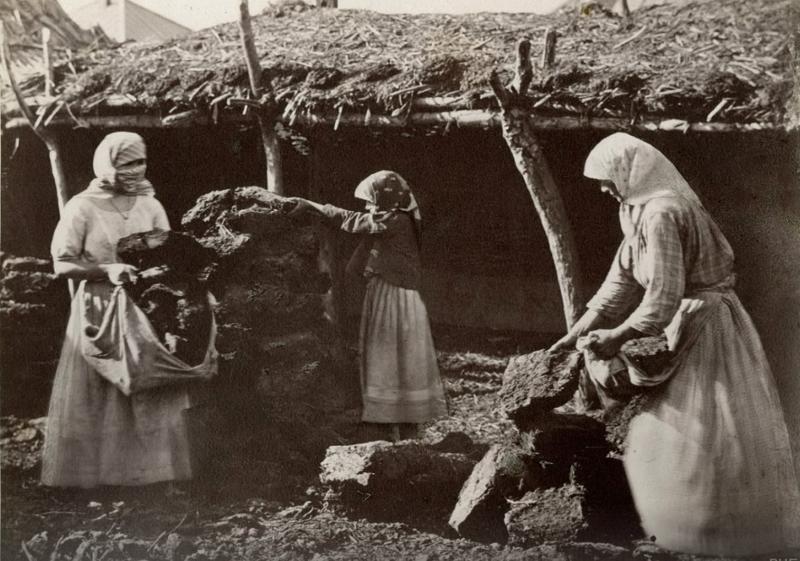 17. Женщины сносят кизяки в сарай до революции, донские казаки, история, казаки, казачий быт, фотографии
