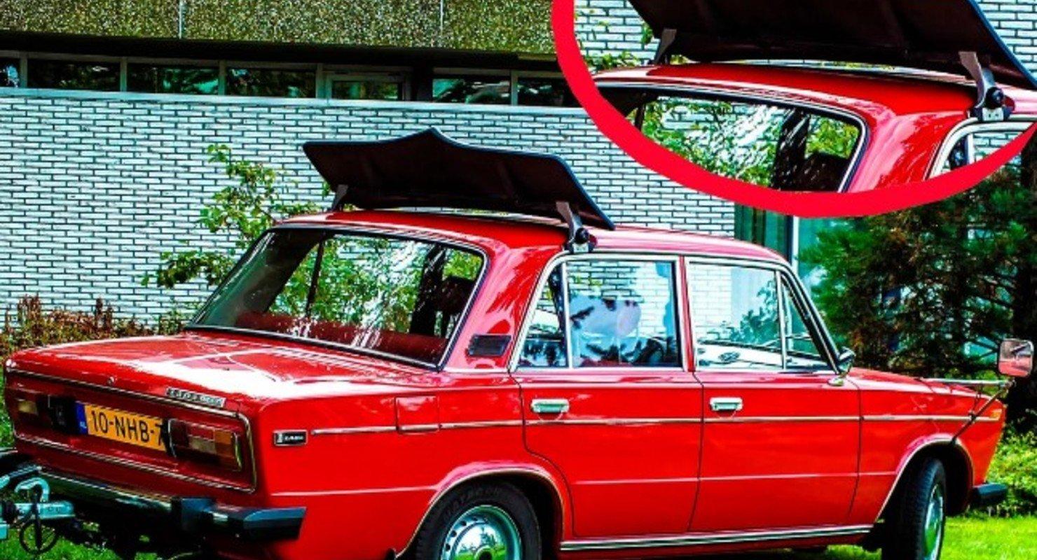 Для чего нужен огромный спойлер на крышах экспортных советских авто? Автомобили