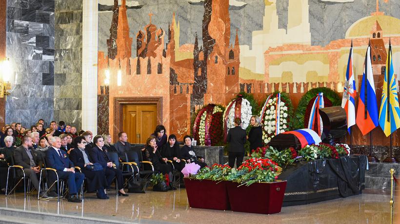 Церемония прощания с космонавтом Алексеем Леоновым в Подмосковье