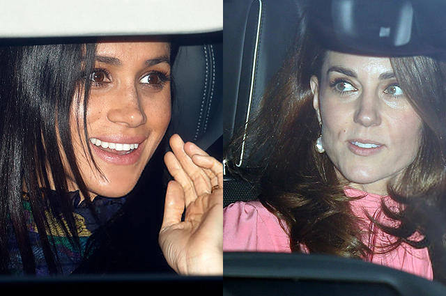 Разбираем стиль Меган Маркл и Кейт Миддлтон на рождественском обеде Елизаветы II