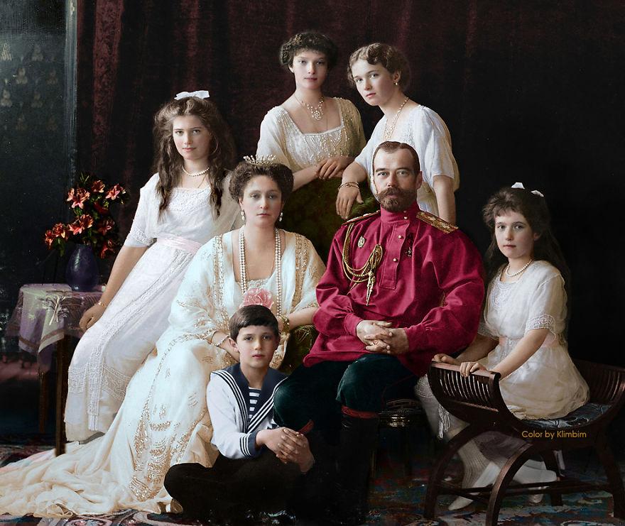 11 раскрашенных исторических фотографий о русских людях