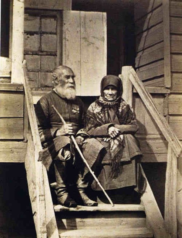 4. Пожилая пара до революции, донские казаки, история, казаки, казачий быт, фотографии