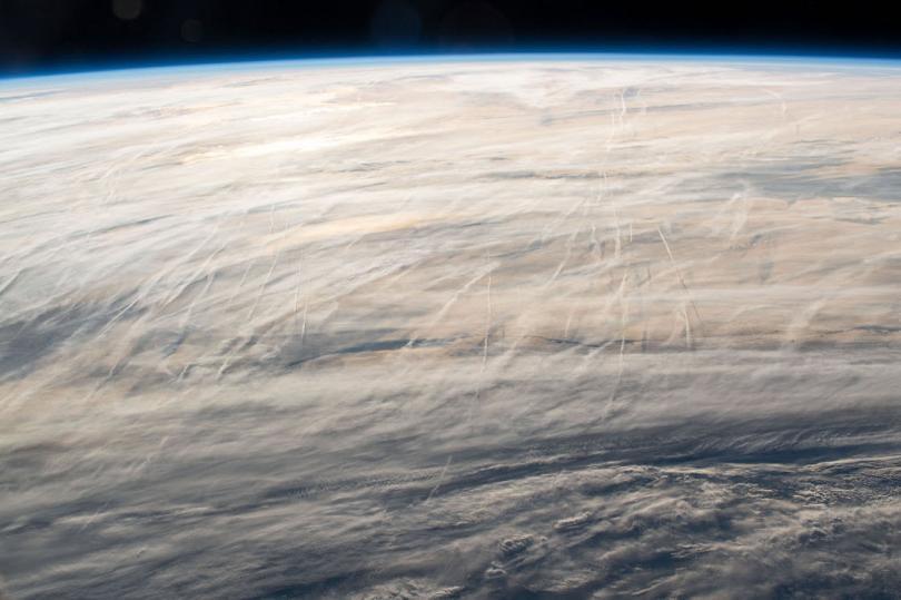 Облака над Северной Атлантикой, 3 мая 2019. (Фото NASA):