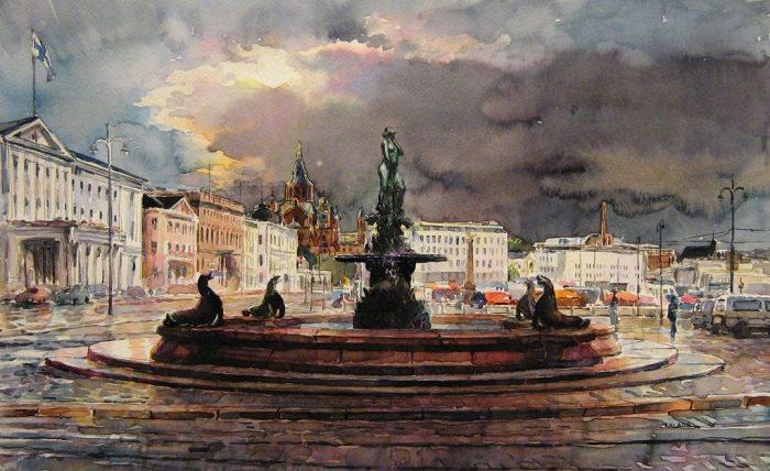 Акварели болгарского художни…
