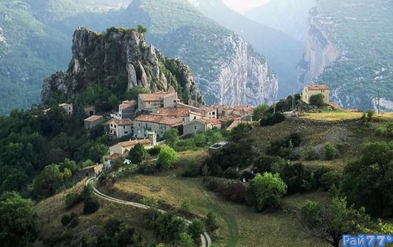 15. Роугон, Франция. деревни, мир, невидимки, природа, фото