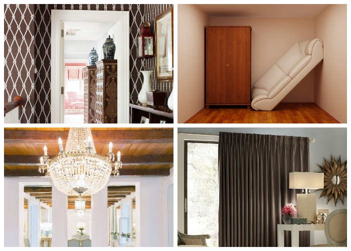 При оформлении интерьера маленьких комнат так делать не рекомендуется.
