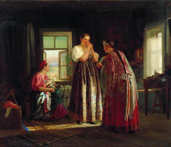 Сборы на гулянье. 1869 . Музей искусств Республики Казахстан
