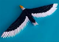 Орел из модулей оригами (видео мастер-класс)