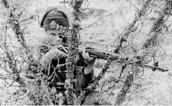 Еще больше штыковых атак немцы боялись советских снайперов.