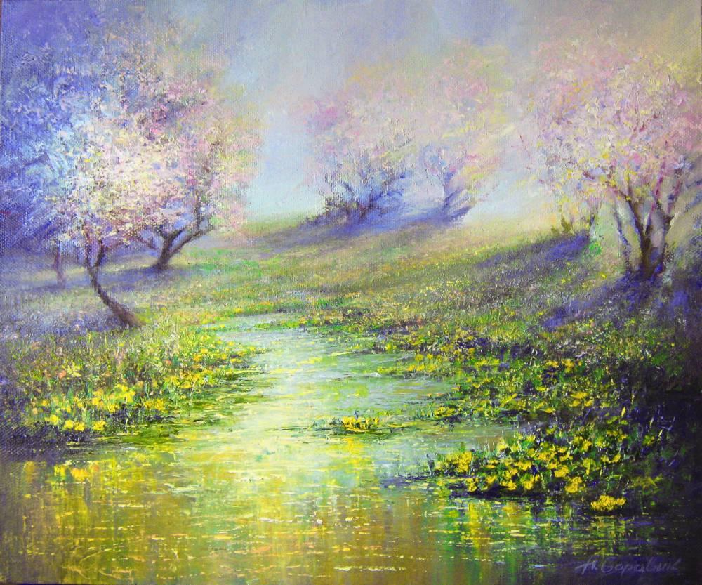 Весна в современной живописи
