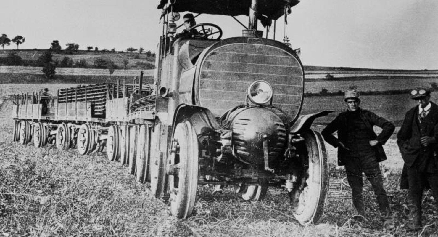 Austro-Daimler M16, один из первых в мире гибридных грузовиков Автомобили