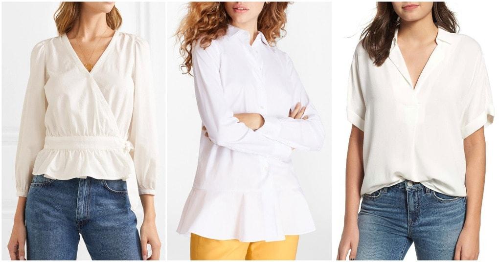 5 стильных образов классической белой рубашки