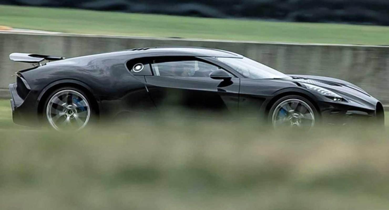 Bugatti опубликовала тизер современного гиперкара La Voiture Noire Автомобили