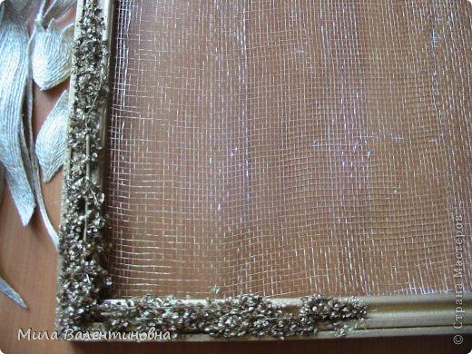 Картина панно рисунок Мастер-класс Новый год Моделирование конструирование МК-Цветы из джутовых ниток на сетке Нитки фото 13