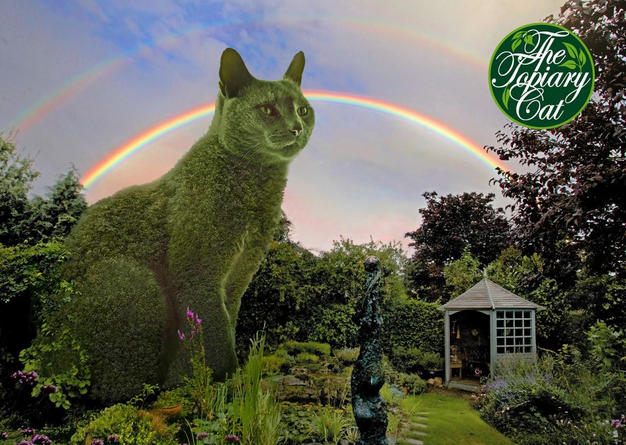 Самый необычный парк на планете, где все кусты сделаны в виде котиков