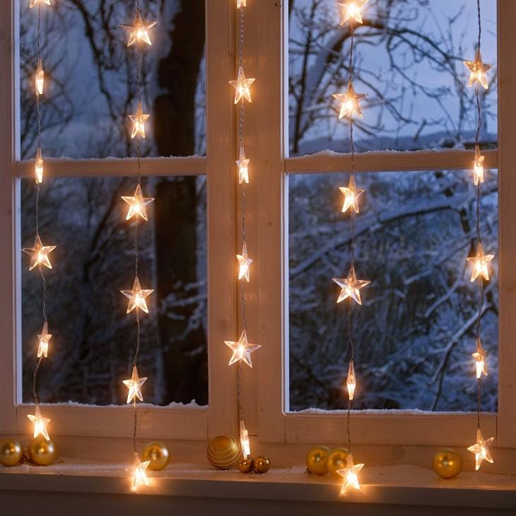 Картинки окна новый год